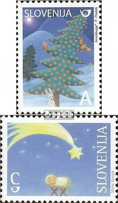 slovenia 694-695 mint never hinged mnh 2008 christmas and Year