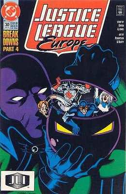 Justice League Europe #30 in Near Mint condition. FREE bag/board