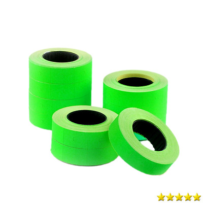 Metronic 10 Rolls Green Fluorescent Color 5000 Price Labels Paper Fr Mx-5500