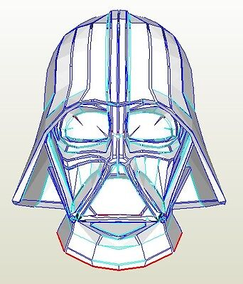 DIY star wars Darth Vader pepakura helmet kit cosplay free postage