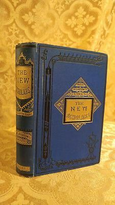 1883 Fine Binding Antique Book The New Scholars by Joanna Mathews