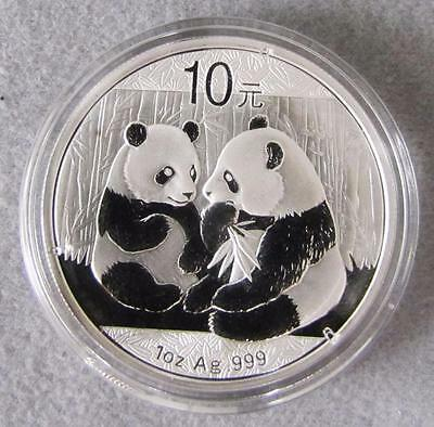 2009 China 10 Yuan.999 Fine Silver Panda, 1 troy oz. BU.