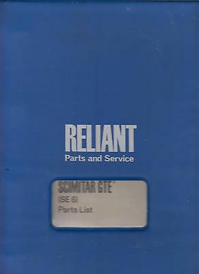 Reliant Scimitar Gte Se6 ( 1975 - 1976 ) Original Factory Spare Parts Catalogue