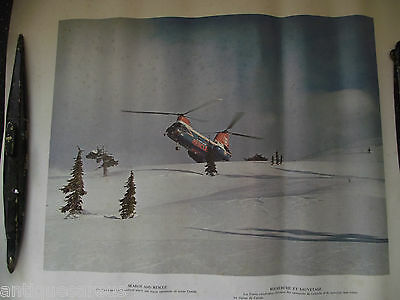 Canadian Search And Rescue Helicopter With Loads Of Snow  Vintage Poster