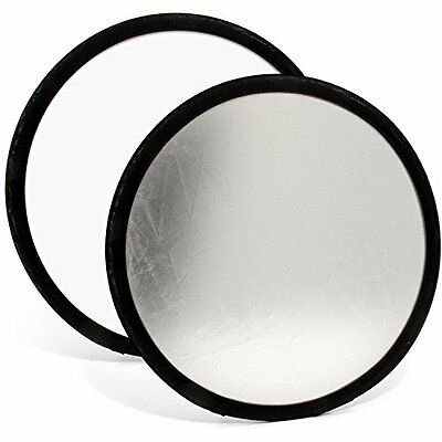 "iGadgitz 30cm (12"") 2-in-1 Collapsible Round Disc Studio Light Reflector with"