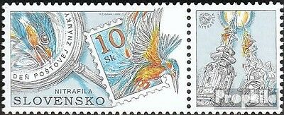 Slovakia 443 with zierfeld mint never hinged mnh 2002 Stamp Exhibition