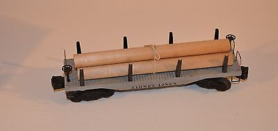 Postwar Lionel 2411 Flatcar With Logs-w/OB