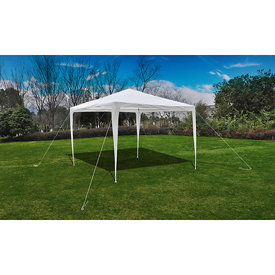 S# Outdoor 3x3m Party Tent White Gazebo Marquee Folding Canopy Wedding Shade