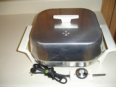 VINTAGE Sunbeam USA Electric Skillet Griddle w/ Cord Immersible NICE! 1250 Watts