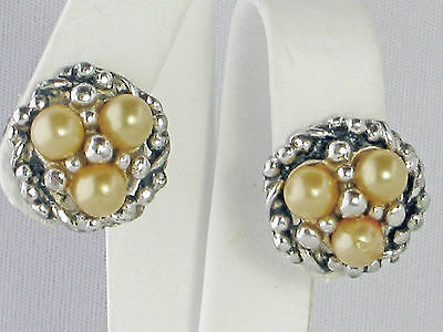 Rare vintage Barclay earrings circa late 1940-1950's  faux pearls clip-on