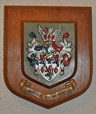 Portadown College wall plaque shield coat of arms school