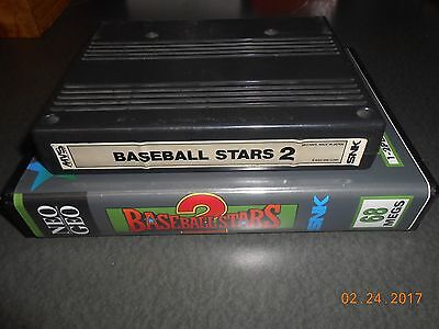 Baseball Stars 2 (Neo Geo MVS, 1992) Cart and Shock box