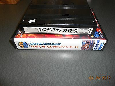 Quiz King of Fighters (Neo Geo MVS, 1995) Cart and Shock box