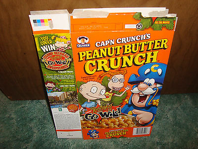 PEANUT BUTTER CAP'N CRUNCH RUGRATS cereal box 2003 LIMITED OOP QUAKER RARE