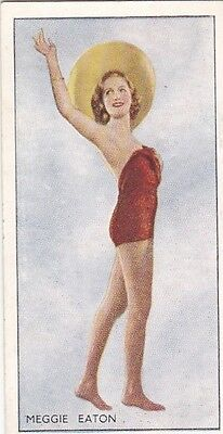 MEGGIE EATON - godfrey phillips HOLLYWOOD beauty PIN-UP/CHEESECAKE 1937 cig card