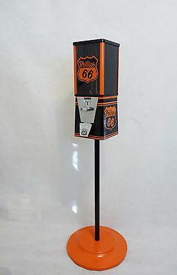 vintage gumball machine Phillips 66 candy nuts machine with stand