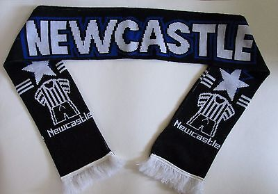 NEWCASTLE Football Scarf Country Wear Double Knit Made in UK