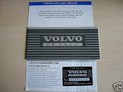 VOLVO 740/760/780 ON CALL Card and Brochure