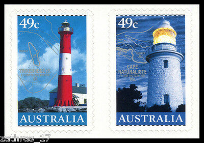 2002 Lighthouses in Australia - Self Adhesive Set of 2 Stamps MUH