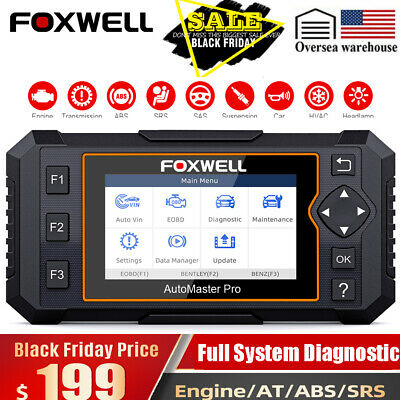 Foxwell Scanner Automotive Full System ABS Airbag SRS Oil EPB Reset Code Reader