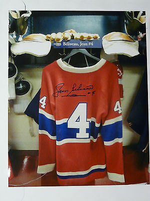 Jean Beliveau Montreal Canadians signed 8x10 Photo Locker with COA