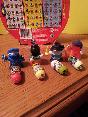 Mighty Beanz Grab Bag # 6 Mix Lot of 4 Beanz and 4 Mighty Bodz Costumes