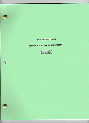 """THE TWILIGHT ZONE  show script """"Where Is Everybody"""" Episode #101"""