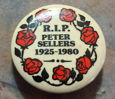 Peter Sellers R.I.P. 1925-1980 with Roses Pinback 1 1/4""