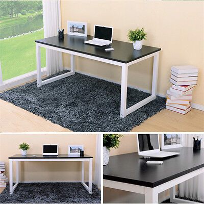 Office Home Computer PC Laptop Desk Student Study Furniture Table Black ZZ