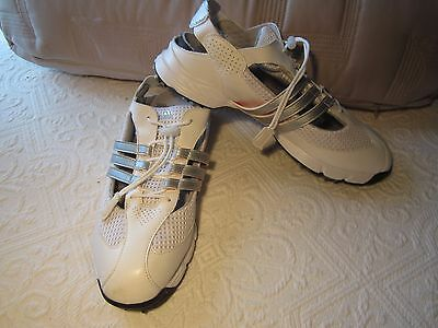 Ladies Adidas open sided golf shoes, size US 9, white