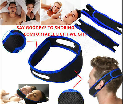 Stop Snoring Chin Strap Jaw Belt Anti Snore Solution Device Apnea Support  New!!
