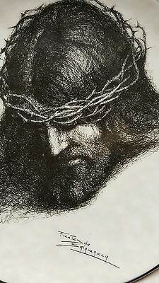 Jesus Christ Father Forgive Them Plate W S George Portraits of Christ Crown