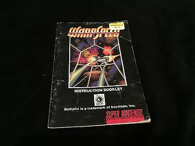 WarpSpeed (Manual Only) Super Nintendo SNES [NO GAME]