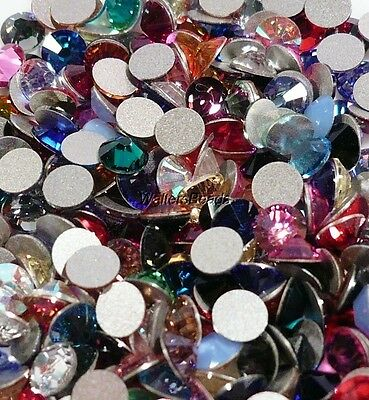 Swarovski Crystal Stones Flatback  #2058 SS 9 For Nails Mixed Colors  2 MM 100