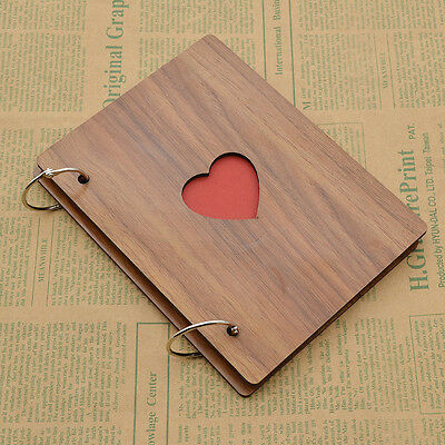 Wood Handmade Album Loose-leaf Autograph Albums Pasted Photo Pictures Scrapbook