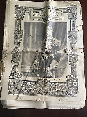 The Times Coronation Number May 11 1937 - Rare Royal Monarchy Paper Unique Gift