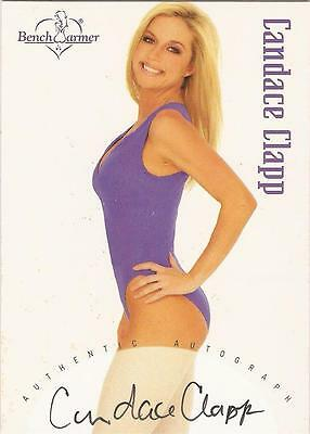 """Benchwarmer 2002 - """"Candace Clapp"""" Auto / Autograph Card"""