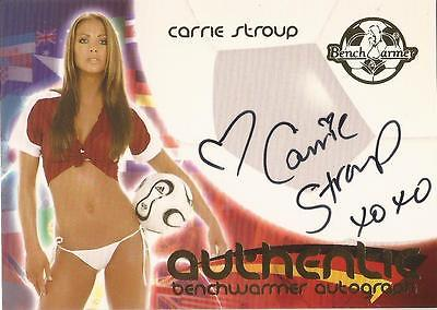 """Benchwarmer 2006 World Cup -  #30 of 30 """"Carrie Stroup"""" Variant Autograph Card"""