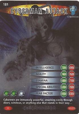 "Doctor Who Battles In Time Exterminator - Rare ""Cyberman Attack"" Card #181"
