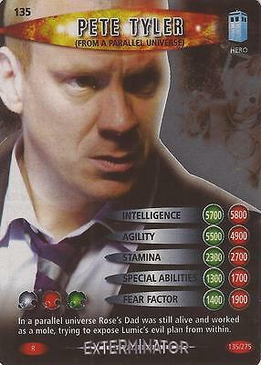 "Doctor Who Battles In Time Exterminator - Rare ""Pete Tyler"" Card #135"