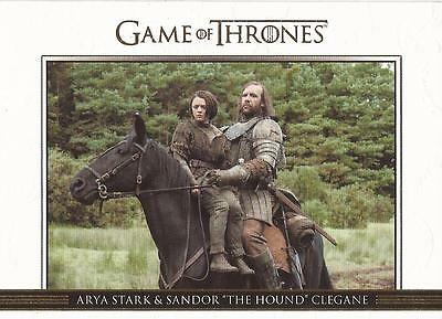 Game of Thrones Season 3 - DL17 GOLD Parallel Relationships Chase Card #120/300