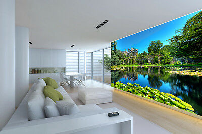 3D Trees Forest Lake Wall Paper Murals Wall Print Decal Wall Deco AJ WALLPAPE