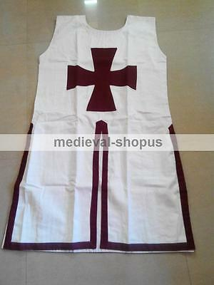 knight templar white tabard tunic reenactment medieval tunic period  Armour