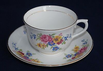 Vintage Royal Vale Tea Cup and Saucer - Floral Sprays #6558