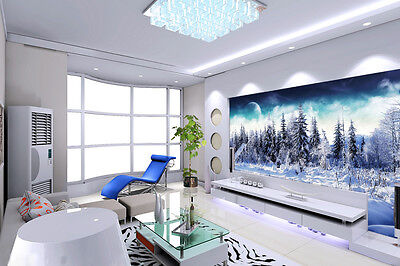 3D Snow Forest Trees Wall Paper Murals Wall Print Decal Wall Deco AJ WALLPAPE