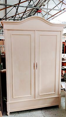 Beautiful 19Th Century Carved French Painted Armoire/hanging Cupboard