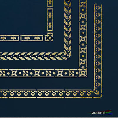 Decorative Borders #1 Stencil Template:  Scrapbooking, Airbrushing, Art:  ST49A6