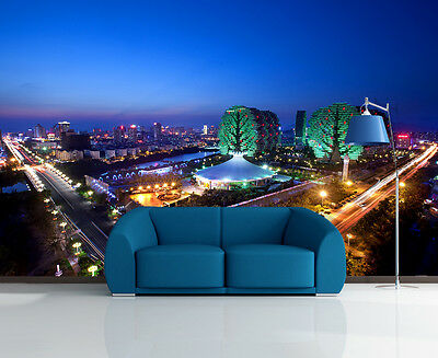 3D Night View Highway Wall Paper Murals Wall Print Decal Wall Deco AJ WALLPAPE