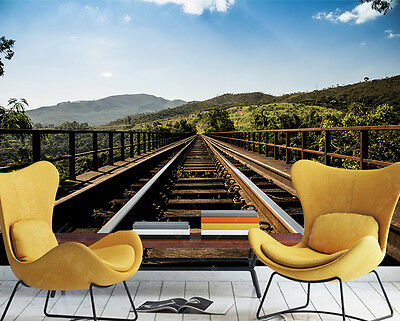 3D White Coulds Rail Wall Paper Murals Wall Print Decal Wall Deco AJ WALLPAPE
