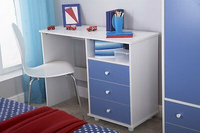 Miami Childrens Study Desk Blue/White  LOCAL Delivery Free Assembly